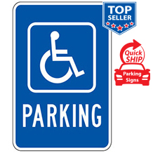 (Handicap Symbol) Parking Sign