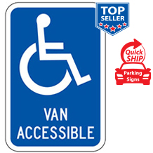 (Handicap Symbol) Van Accessible Sign