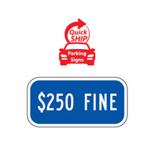 $250 Fine Supplemental Plaque (Blue)