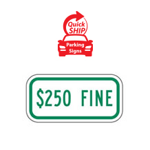 $250 Fine Supplemental Plaque (Green)