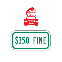 $350 Fine Supplemental Plaque (Green)