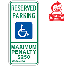 (North Carolina State Spec) Handicap Parking Sign
