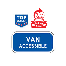 Van Accessible Supplemental Plaque (Blue)