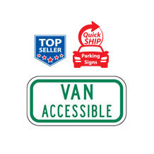 Van Accessible Supplemental Plaque (Green)