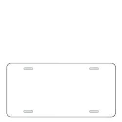 License Plate Blank