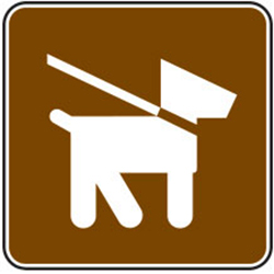 Pets on Leash Sign