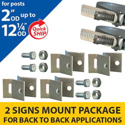 Snap Lock Assembly and Cantilever Bracket 2 Signs Mounting Package