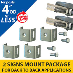 Snap Lock Assembly and Minus 4 Bracket 2 Signs Mounting Package