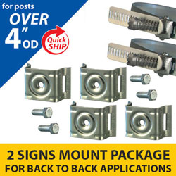 Snap Lock Assembly and Plus 4 Bracket 2 Signs Mounting Package