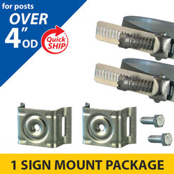Snap Lock Assembly and Plus 4 Bracket Sign Mounting Package