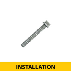 Surface Mount Anchor Screws for Concrete