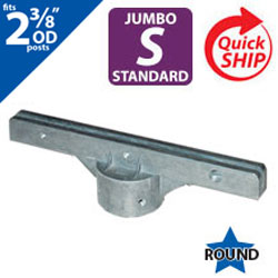 "Silver 12"" Jumbo Bracket for 2 3/8"" OD Round Post"