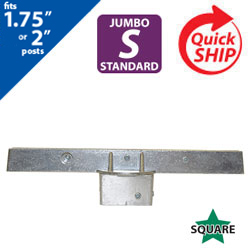 "Silver 12"" Jumbo Square Post Cap Bracket for 1.75"" to 2"" Square Posts"