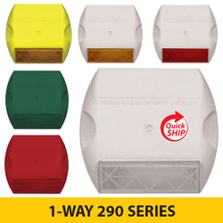 1 WAY 290 SERIES 3M Raised Pavement Markers [100/BOX]