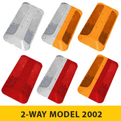 2 WAY Model 2002 Series Rayolite Raised Pavement Markers [100/BOX]