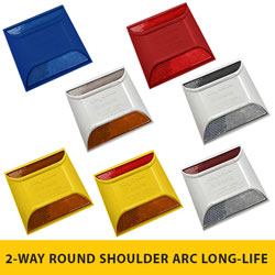2 WAY Round Shoulder ARC (Abrasion Resistant) Series Rayolite Raised Pavement Markers [50/BOX]