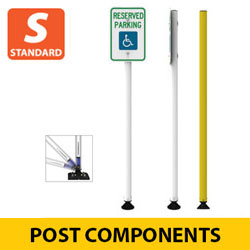 Standard Flexible Sign Posts with Quick Release Coupler