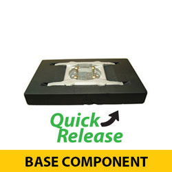 Quick Release Recessed Black Base