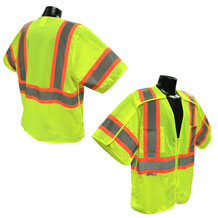 CLASS 3 (Type R) Premium Hi Visibility 5 Point Breakaway Vests