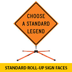 Standard Roll Up Sign Faces Ribs Sold Separately