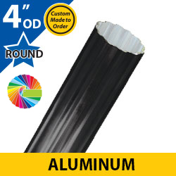 Semi Gloss Powder Painted 4 OD Round Fluted Aluminum Posts