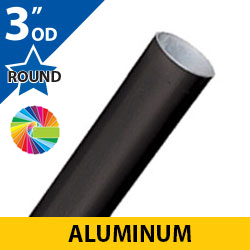 "Semi Gloss Powder Painted 3"" OD Round Smooth Aluminum Posts"