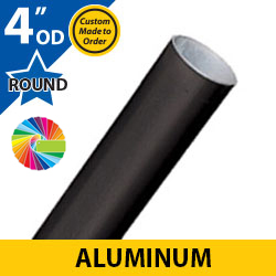 "Semi Gloss Powder Painted 4"" OD Round Smooth Aluminum Posts"