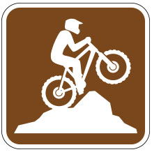 Mountain Biking Sign