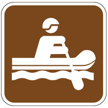 River Rafting Sign