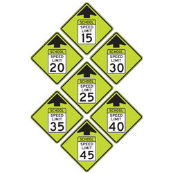 FYG Speed Reduction Warning Signs