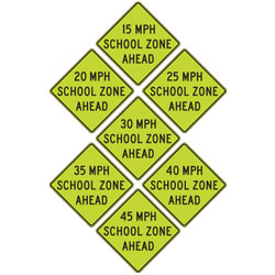 FYG Speed Zone Ahead Warning Signs