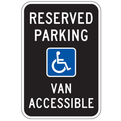 Oxford Series: Reserved Parking |  | Handicap (Symbol) | Van Accessible Parking Sign
