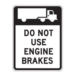 Do Not Use Engine Brakes Sign