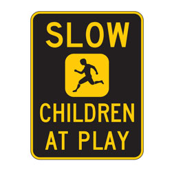 Oxford Series: Slow Children at Play Sign
