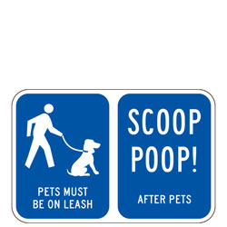Pets on Leash | Scoop Poop! After Pets Sign