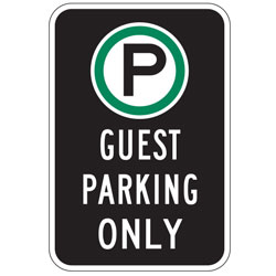 Oxford Series: (Parking Symbol) Guest Parking Only Sign