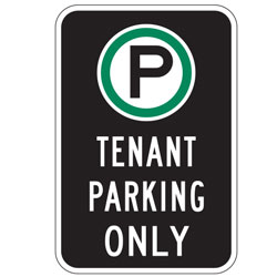 Oxford Series: (Parking Symbol) Tenant Parking Only Sign