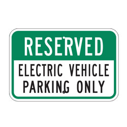 Reserved Electric Vehicle Parking Only Sign