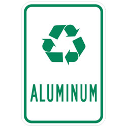 (Recycle Symbol) Aluminum Sign