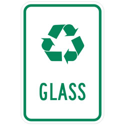 (Recycle Symbol) Glass Sign