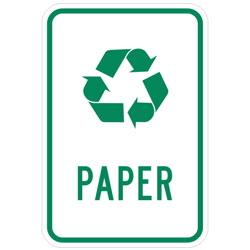 (Recycle Symbol) Paper Sign