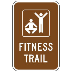 Fitness Trail (Exercise/Fitness Symbol) Sign