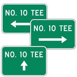 No 10 Tee with Arrow Sign