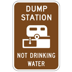 Dump Station (Dump Station Symbol) Not Drinking Water Sign