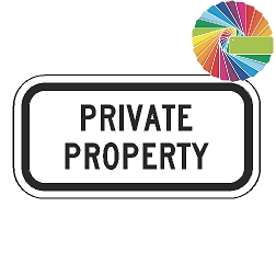 Private Property (Word Plaque) Custom Color Sign