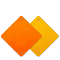 Warning Reflective Sheeted .080 Aluminum Sign Blanks
