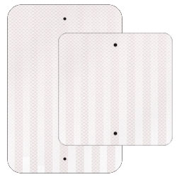 Traffic Reflective White Sheeted .080 Aluminum Sign Blanks