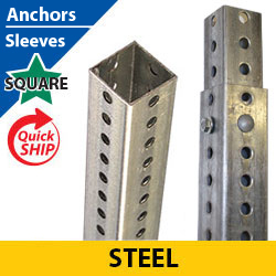 Silver Square Punched POZ LOC Anchors/Sleeves