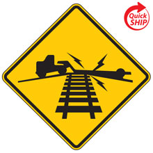 Highway Rail Grade Low Ground Clearance Advance Warning Signs