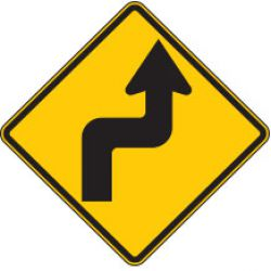 Reverse Turn Right Symbol Warning Signs